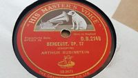ARTHUR RUBINSTEIN BERCEUSE OP 57 & MAZURKA IN D MAJOR OP 63 NO 1 HMV DB2149